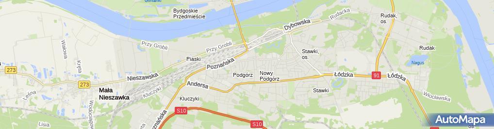 Zdjęcie satelitarne GR Instal Gajdziński Krzysztof Ryciuk Przemysław