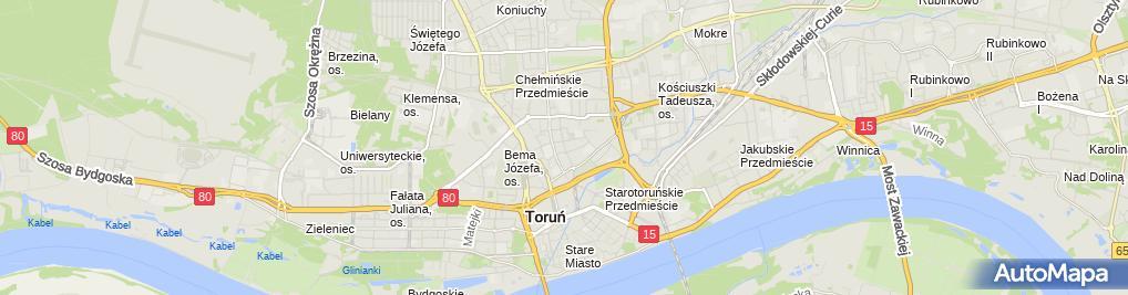 Zdjęcie satelitarne Grucza Bartłomiej