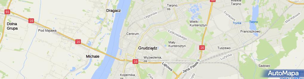 Zdjęcie satelitarne Grudziądzkie Towarzystwo Budownictwa Społecznego
