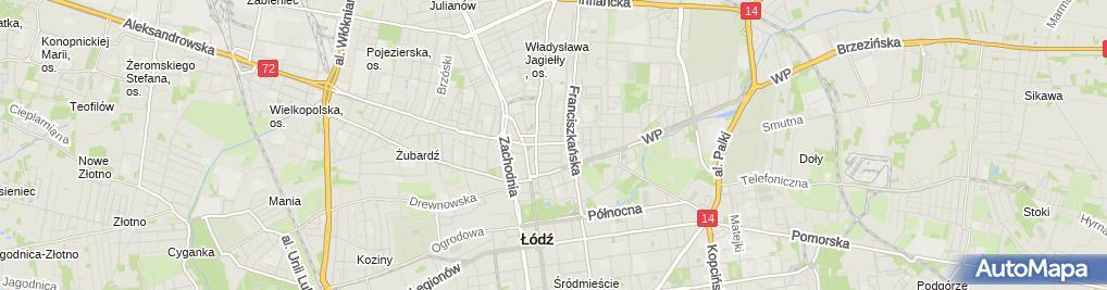 Zdjęcie satelitarne Henryk Baran Biuro Usług Inwestycyjno-Budowlanych 91-829 Łódź Zawiszy Czarnego 13 m 16
