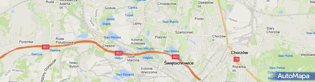 Zdjęcie satelitarne J B Usługi Brukarsko Transportowe Bonczyk Bogdan Jacek Błażyca