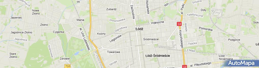 Zdjęcie satelitarne Jacek Banachowski Przedsiębiorstwo Budowlane