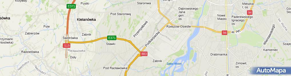 Zdjęcie satelitarne K B Rzeszów