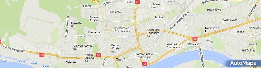Zdjęcie satelitarne Karłowski Janusz Perc Przedsiębiorstwo Produkcyjno Handlowo Usługowe