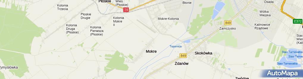 Zdjęcie satelitarne Kazimierz Bondyra - Działalność Gospodarcza