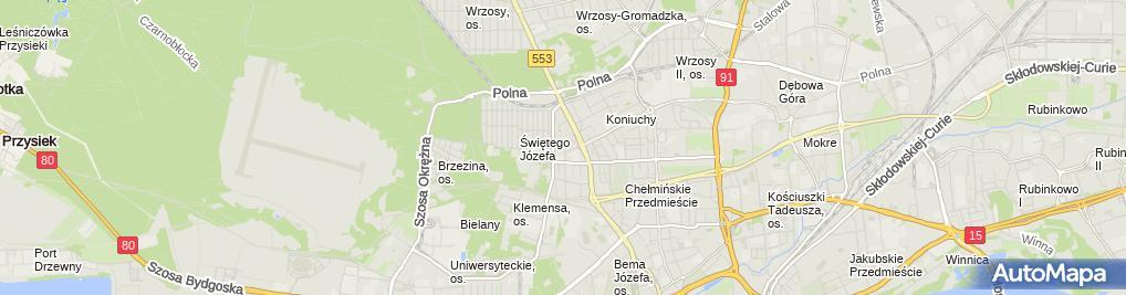 Zdjęcie satelitarne Klima Control Wojciech Lewandowski