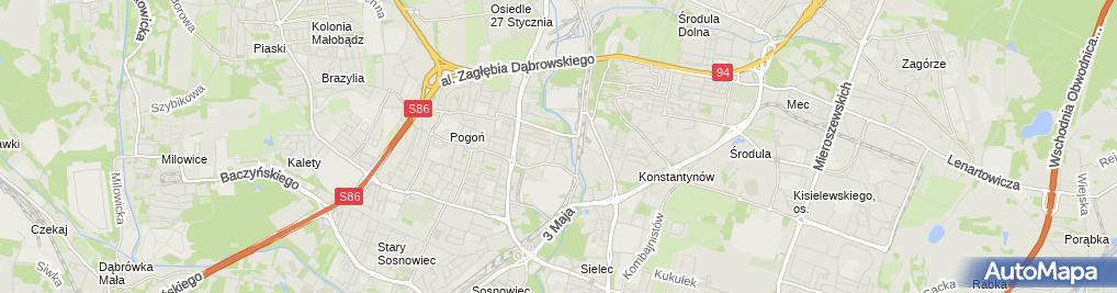 Zdjęcie satelitarne Komenda Piotr Przedsiębiorstwo Wielobranżowe Salex