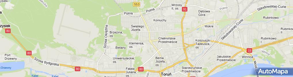 Zdjęcie satelitarne Kropkowski Jerzy West Przedsiębiorstwo Wielobranżowe