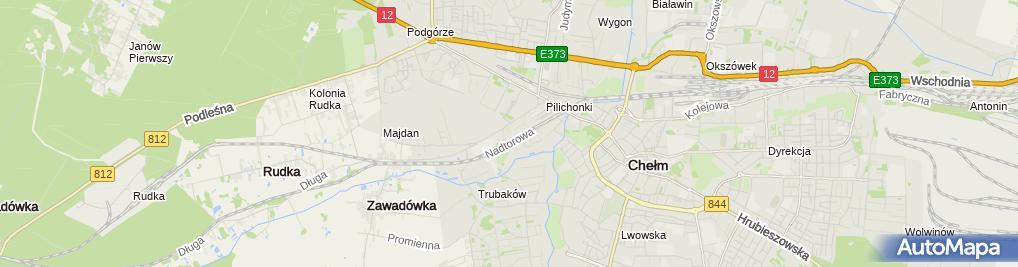 Zdjęcie satelitarne Krzanowski Krzysztof Usługi Remontowo - Budowlane