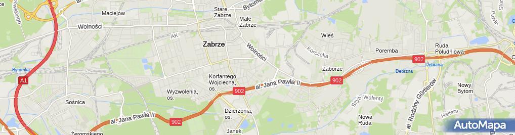 Zdjęcie satelitarne Krzysztof Kropelnicki Firma Budowlana Kropelnicki Krzysztof