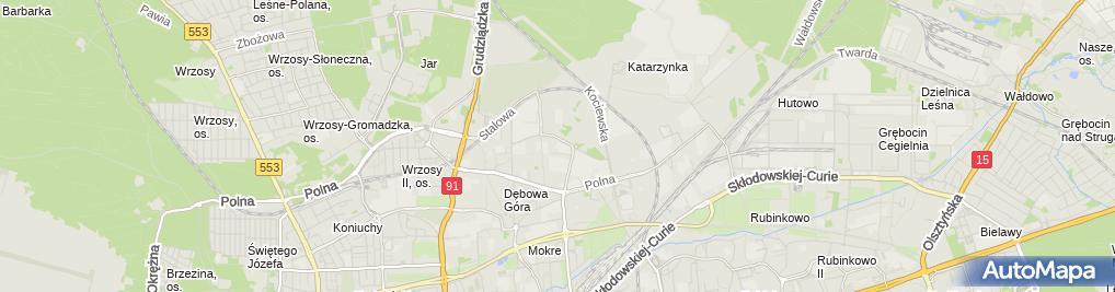 Zdjęcie satelitarne Krzysztof Zieliński Zakład Usług Przeładunkowych i Transportowych