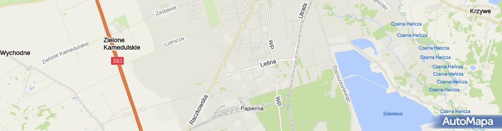Zdjęcie satelitarne Leszek Ostrowski Przedsiębiorstwo Budowlano-Handlowe Lobud