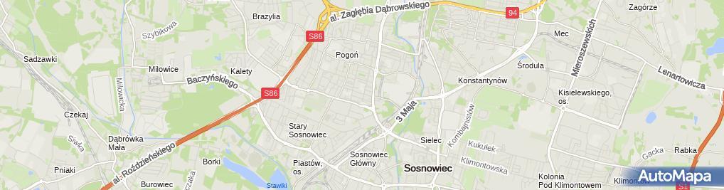 Zdjęcie satelitarne Mania Michał Urb Usługi Remontowo-Budowlane