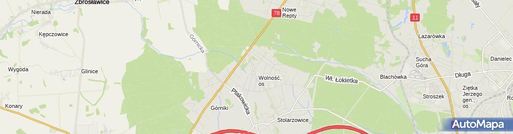 Zdjęcie satelitarne Mariusz Mika Zakład Usług Teletechnicznych Voltan