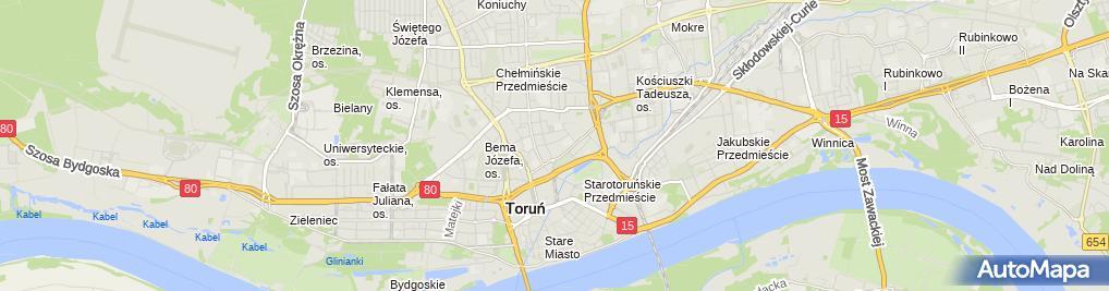 Zdjęcie satelitarne Mariusz Stoń Firma Handlowo Usługowa Mark