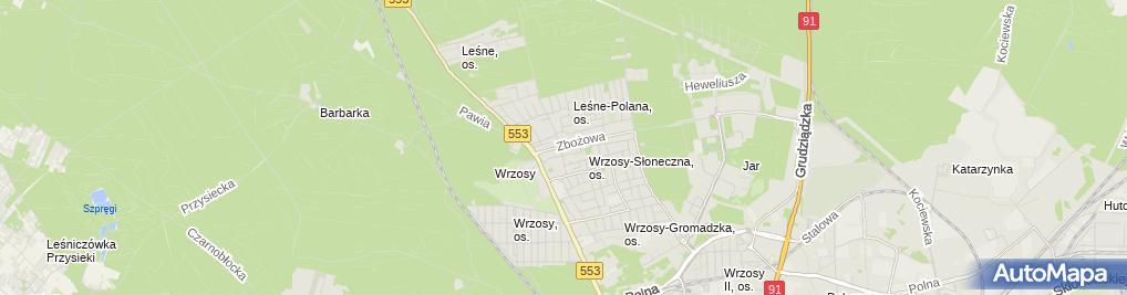 Zdjęcie satelitarne Mariusz Wilczyński Zakład Handlowo Budowlany Aga, Zakład Drogowo