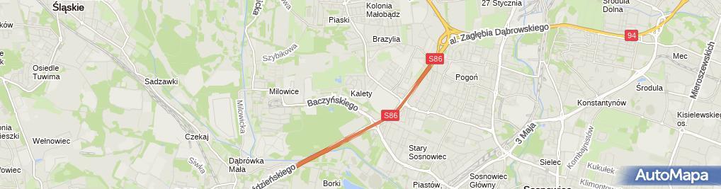 Zdjęcie satelitarne Maszter Usługi Bud Rem Handel Majewski Tomasz Jamruszkiewicz Teresa