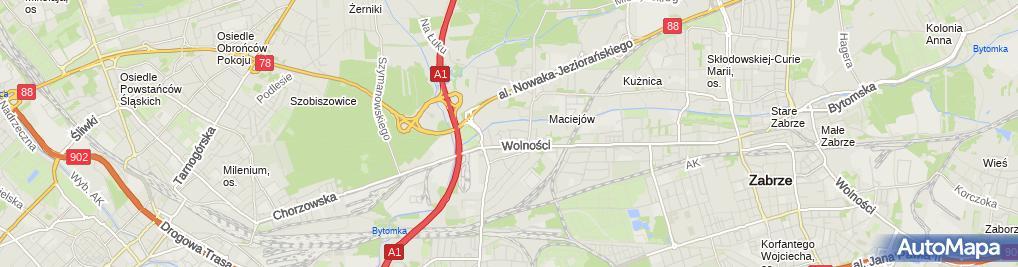 Zdjęcie satelitarne MGR Inż.Zdzisław Postół Zakład Usług Budowlano-Projektowychsport-Projekt