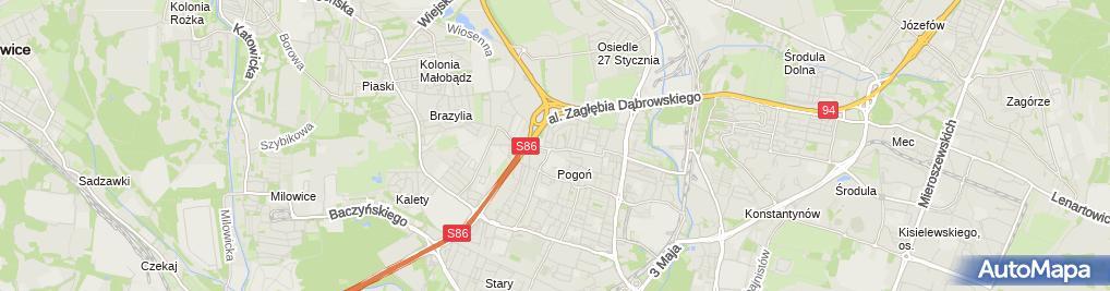 Zdjęcie satelitarne Miaskowska-Szafraniec Katarzyna OL-BUD BIS