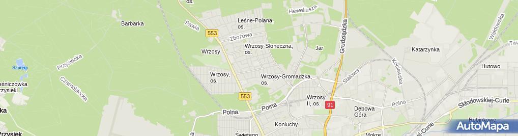 Zdjęcie satelitarne Miklaniewicz Paweł Pro-Maint