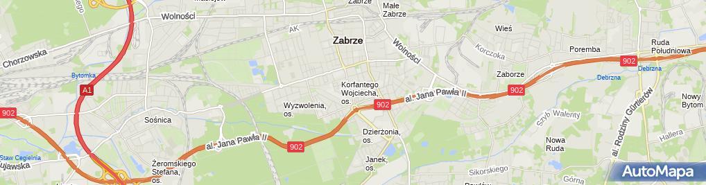 Zdjęcie satelitarne Mirosław Sarnecki Inter FaSa- Mirosław Sarnecki