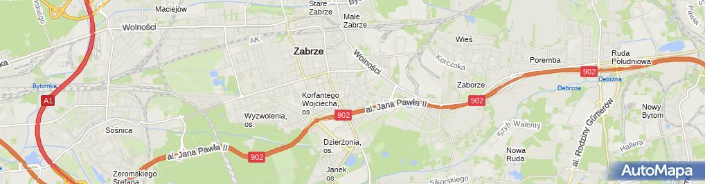 Zdjęcie satelitarne Mirosław Szynter Zakład Remontowo Budowlany Mirek