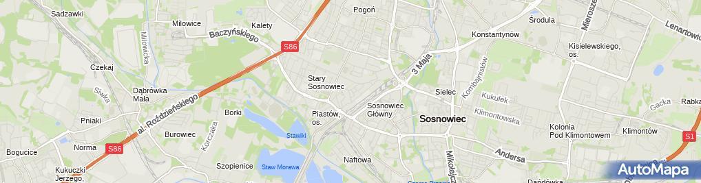 Zdjęcie satelitarne Modo Firma Handlowo Usługowa Lorens Andrzej Wilczak Aleksander