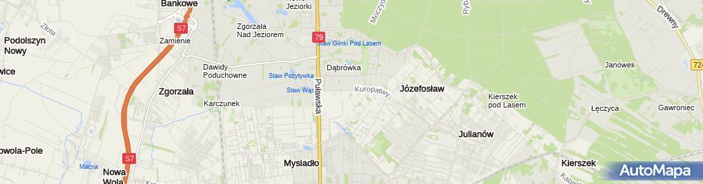 Zdjęcie satelitarne Montostal Przedsiębiorstwo Produkcyjno Usługowo Handlowe Kapczyński Jan Szlaz Robert