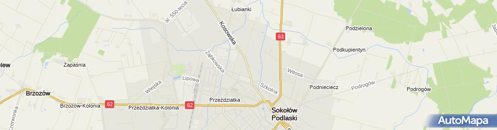 Zdjęcie satelitarne Murarstwo Usługi Dla Ludności