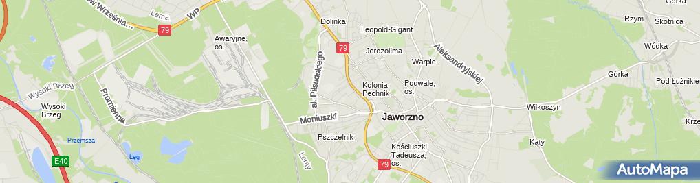 Zdjęcie satelitarne P.U.H. Budopol Łukasz Polak