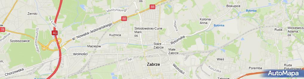 Zdjęcie satelitarne Paweł Janczak Janczak Mosty