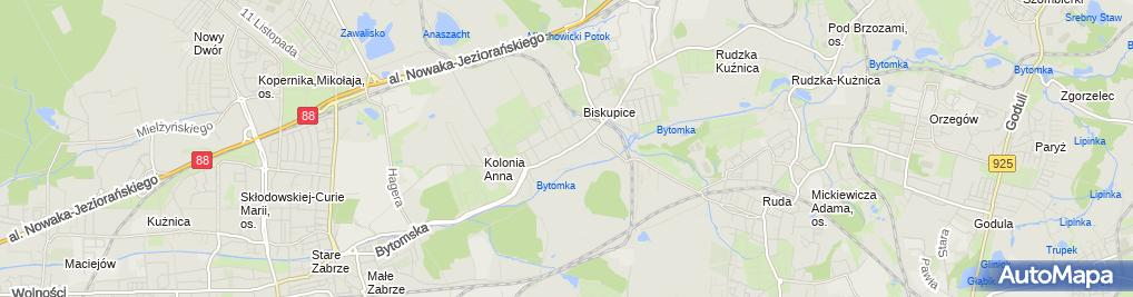 Zdjęcie satelitarne Pilen Piotr Kupiński