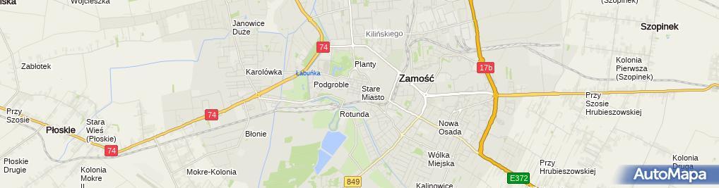 Zdjęcie satelitarne Piotr Anulewicz - Działalność Gospodarcza
