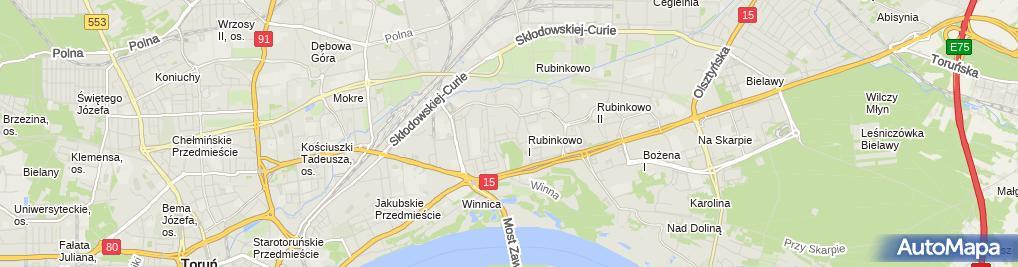 Zdjęcie satelitarne Piotr Cedro - Działalność Gospodarcza