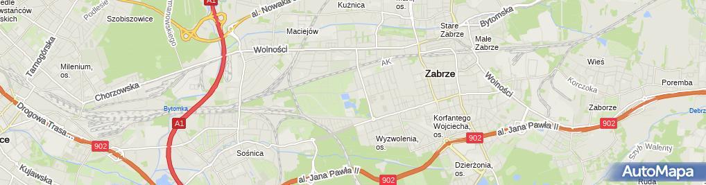 Zdjęcie satelitarne Projgaz Pracownia Projektowo-Wykonawcza Adam Andrzej Ptak