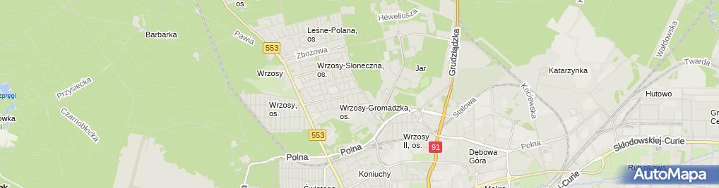 Zdjęcie satelitarne Przeds Budowlano Remontowe PRB 2000 Jóźwiak Andrzej Jóźwiak M