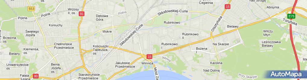 Zdjęcie satelitarne Przeds Handlowo Budowlane Kurek Jerzy Natch Janusz