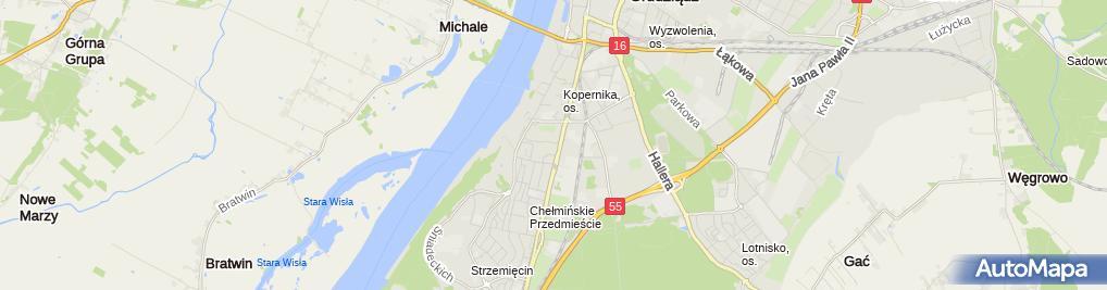 Zdjęcie satelitarne Przedsiębiorstwo Budowlane Rafał Dadański