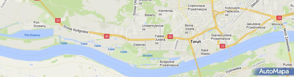 Zdjęcie satelitarne Przedsiębiorstwo Budowlane Sławomir Koszykowski