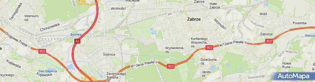 Zdjęcie satelitarne Przedsiębiorstwo Handlowo-Usługowe Dar-Bud Dariusz Rylukowski