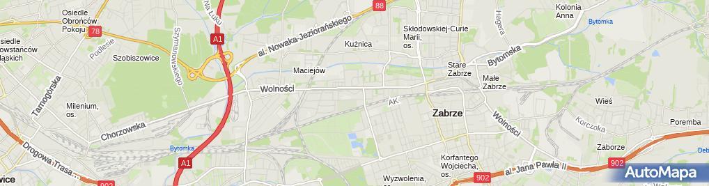 Zdjęcie satelitarne Przedsiębiorstwo Handlowo-Usługowe MaracanaTomasz Paszewski