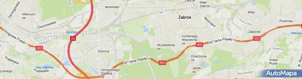 Zdjęcie satelitarne Przedsiębiorstwo Handlowo Usługowe Timex Piotr Kryszak
