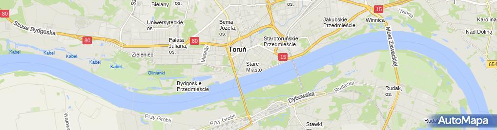 Zdjęcie satelitarne Przedsiębiorstwo Produkcyjno Usługowo Handlowe Domtor Kuczmarski Wiesław Norkowski Tomasz