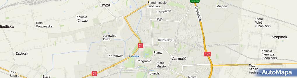 Zdjęcie satelitarne Przedsiębiorstwo Produkcyjno-Usługowo-Handlowe