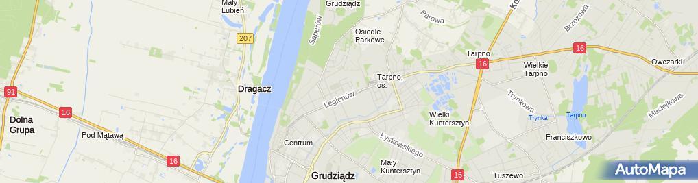 Zdjęcie satelitarne Przedsiębiorstwo Produkcyjno Usługowo Handlowe
