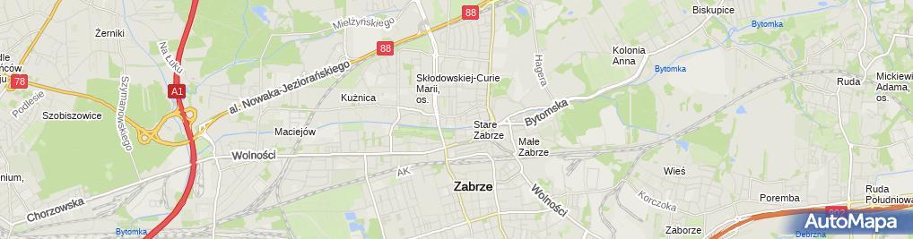 Zdjęcie satelitarne Przedsiębiorstwo Remontowo Budowlane Elwod