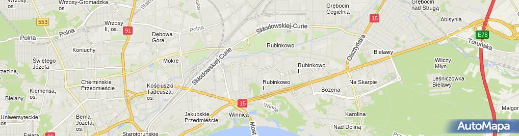 Zdjęcie satelitarne Przedsiębiorstwo Robót Budowlanych Marek Szymański