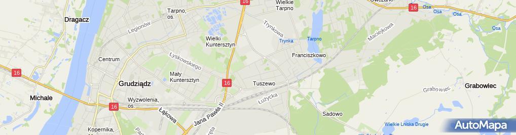 Zdjęcie satelitarne Przedsiębiorstwo Technik Sanitarnych Eko - Ful Bartłomiej Fularczyk