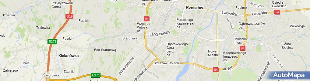 Zdjęcie satelitarne Przedsiębiorstwo Usług Budowlanych i Brukarskich Gips-Bruk