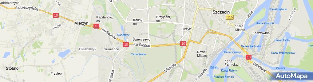 Zdjęcie satelitarne Przedsiębiorstwo Usługowo-Budowlane Uni-Bud Julian Jankowski